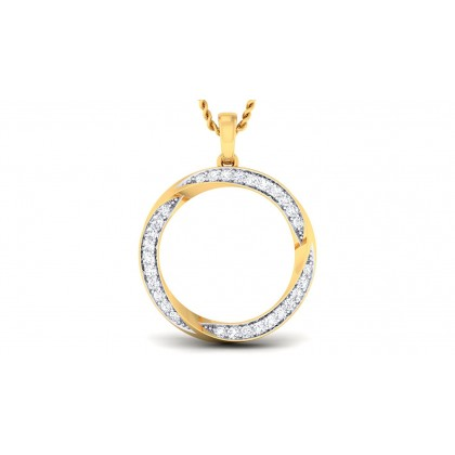 SHEA DIAMOND FASHION PENDANT in 18K Gold
