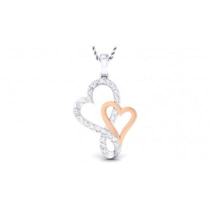 PAULA DIAMOND HEARTS PENDANT in 18K Gold