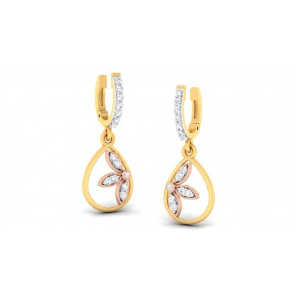 DEVINA DIAMOND DROPS EARRINGS in 18K Gold