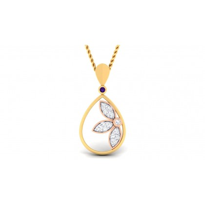 RISHITA DIAMOND FLORAL PENDANT in 18K Gold