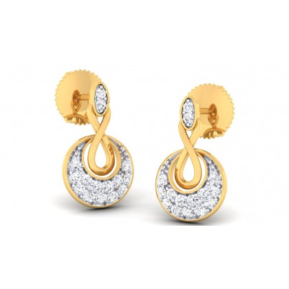 IRAVATI DIAMOND DROPS EARRINGS in 18K Gold
