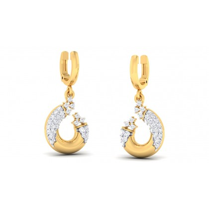 GOPIKA DIAMOND DROPS EARRINGS in 18K Gold