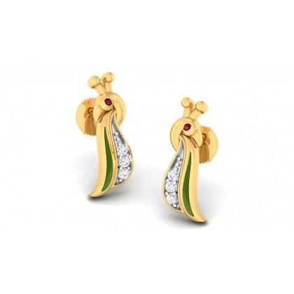 VIVIDHA DIAMOND STUDS EARRINGS in 18K Gold