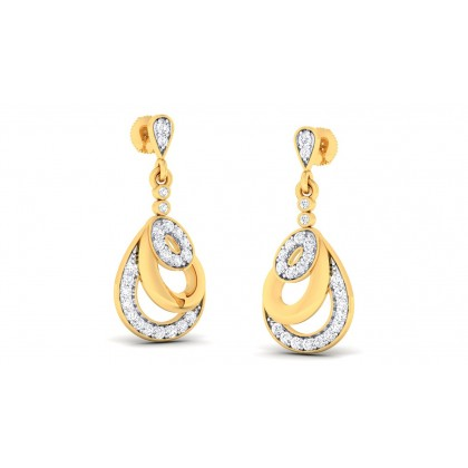 SRISTI DIAMOND DROPS EARRINGS in 18K Gold