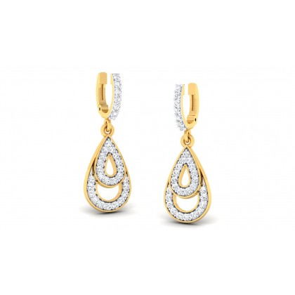 VANMALA DIAMOND DROPS EARRINGS in 18K Gold