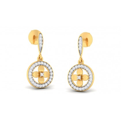 SOFIA DIAMOND DROPS EARRINGS in 18K Gold