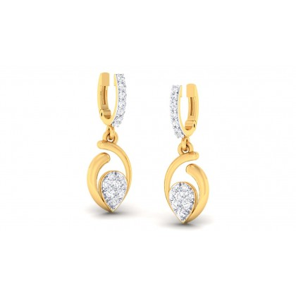LAYAN DIAMOND DROPS EARRINGS in 18K Gold
