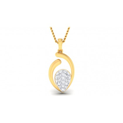 ALYSIA DIAMOND FASHION PENDANT in 18K Gold