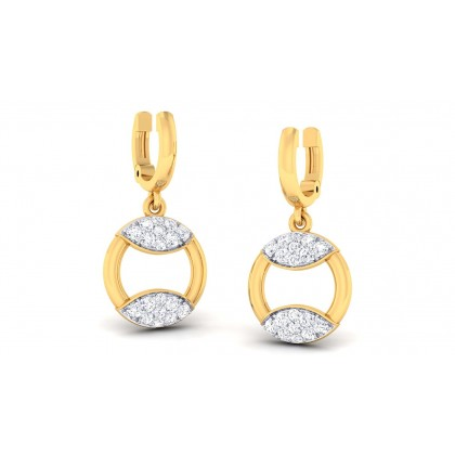 PRIYALA DIAMOND DROPS EARRINGS in 18K Gold