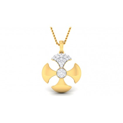 RUPASI DIAMOND FLORAL PENDANT in 18K Gold