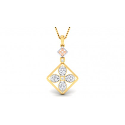 CHAITRA DIAMOND FLORAL PENDANT in 18K Gold