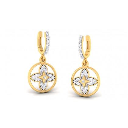 PURVA DIAMOND DROPS EARRINGS in 18K Gold