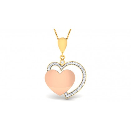 REVA DIAMOND HEARTS PENDANT in 18K Gold