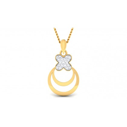 SAGUNA DIAMOND FASHION PENDANT in 18K Gold