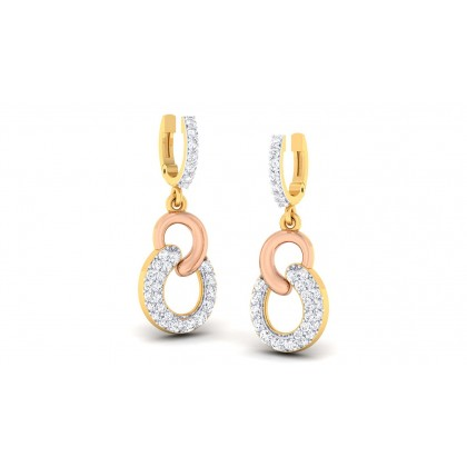 DANI DIAMOND DROPS EARRINGS in 18K Gold