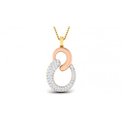 TANVI DIAMOND FASHION PENDANT in 18K Gold