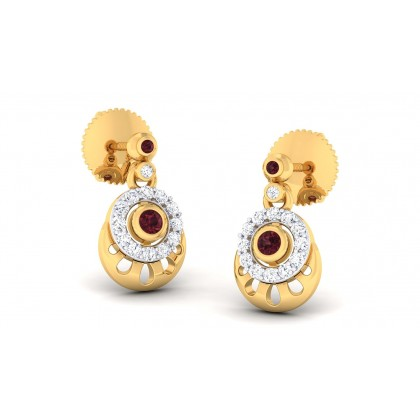 BARKHA DIAMOND DROPS EARRINGS in 18K Gold