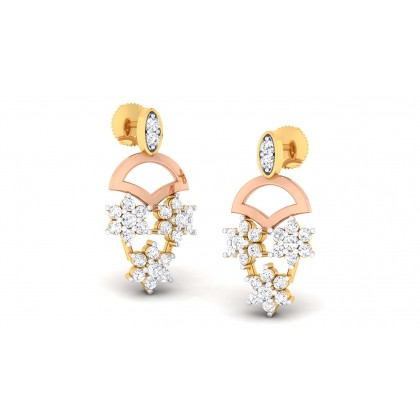 AMYA DIAMOND DROPS EARRINGS in 18K Gold