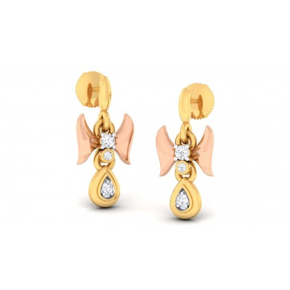 SHUBHRA DIAMOND DROPS EARRINGS in 18K Gold