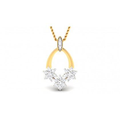 CHITRA DIAMOND FASHION PENDANT in 18K Gold