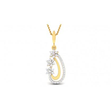 CALISTA DIAMOND FASHION PENDANT in 18K Gold