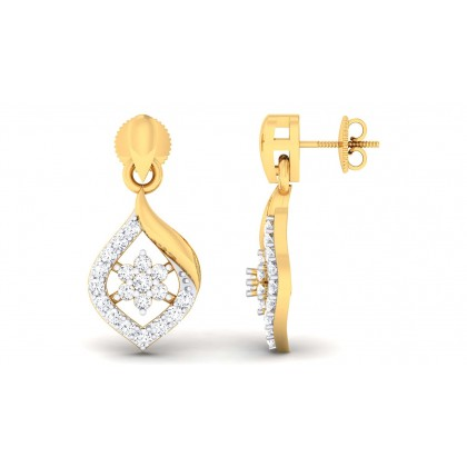 LILI DIAMOND DROPS EARRINGS in 18K Gold
