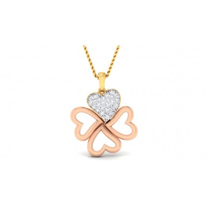 ANDAL DIAMOND HEARTS PENDANT in 18K Gold