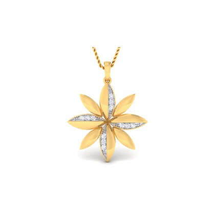 ANWESHA DIAMOND FLORAL PENDANT in 18K Gold