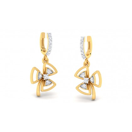 VERA DIAMOND DROPS EARRINGS in 18K Gold