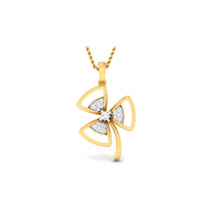SOPHIA DIAMOND FLORAL PENDANT in 18K Gold