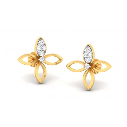 SAVARNA DIAMOND STUDS EARRINGS in 18K Gold
