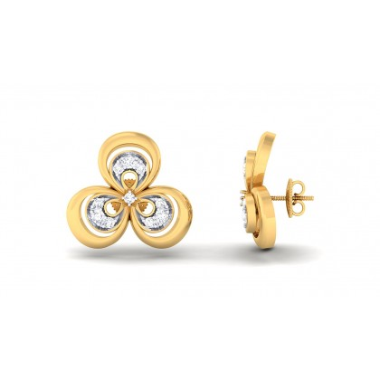 MAYRA DIAMOND STUDS EARRINGS in 18K Gold