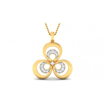 PARKER DIAMOND FLORAL PENDANT in 18K Gold