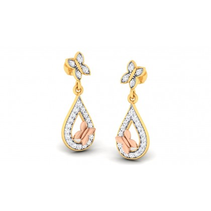 SHUKLA DIAMOND DROPS EARRINGS in 18K Gold