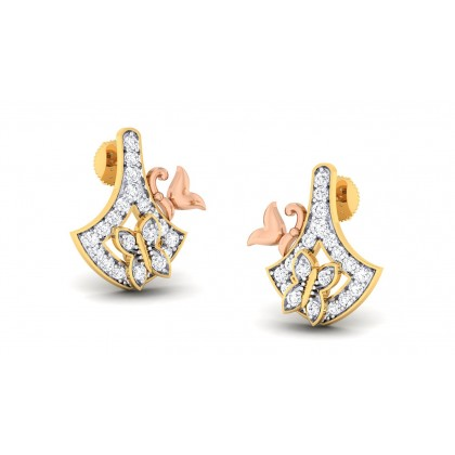 CYNTHIA DIAMOND STUDS EARRINGS in 18K Gold