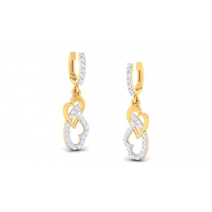 CLARA DIAMOND DROPS EARRINGS in 18K Gold