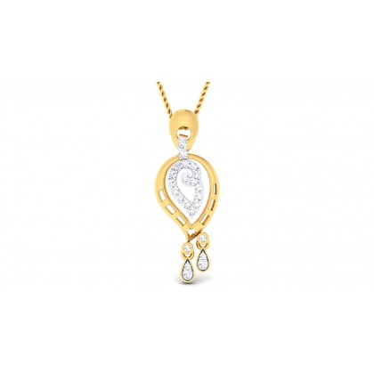 VISHMA DIAMOND FASHION PENDANT in 18K Gold