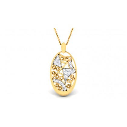 APEKSHA DIAMOND FASHION PENDANT in 18K Gold