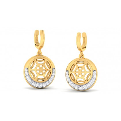 CASEY DIAMOND DROPS EARRINGS in 18K Gold