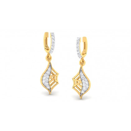 SANVI DIAMOND DROPS EARRINGS in 18K Gold