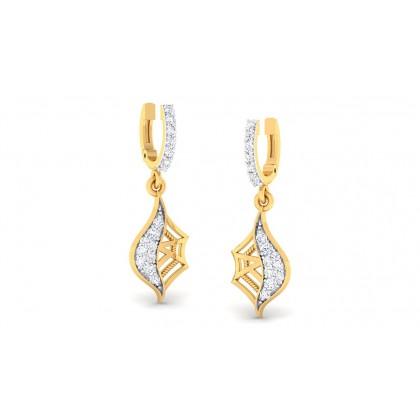 SANVI DIAMOND DROPS EARRINGS in 18K Gold