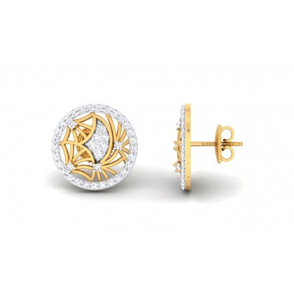 MANALI DIAMOND STUDS EARRINGS in 18K Gold
