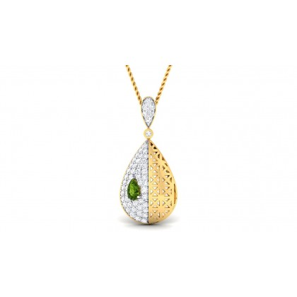STEFANY DIAMOND FASHION PENDANT in Sapphire & 18K Gold