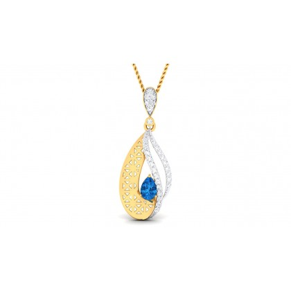 MARIELA DIAMOND FASHION PENDANT in Sapphire & 18K Gold