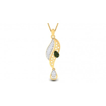 VANDANA DIAMOND FASHION PENDANT in Emerald & 18K Gold