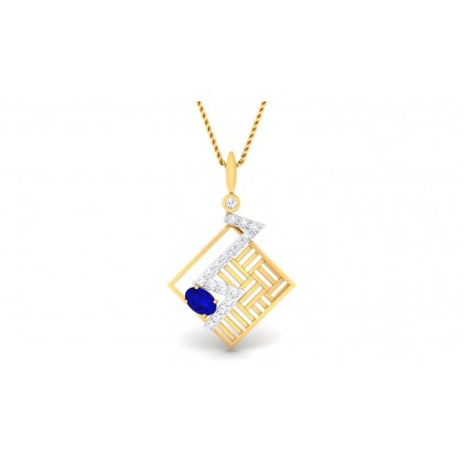 MELINA DIAMOND FASHION PENDANT in Topaz & 18K Gold