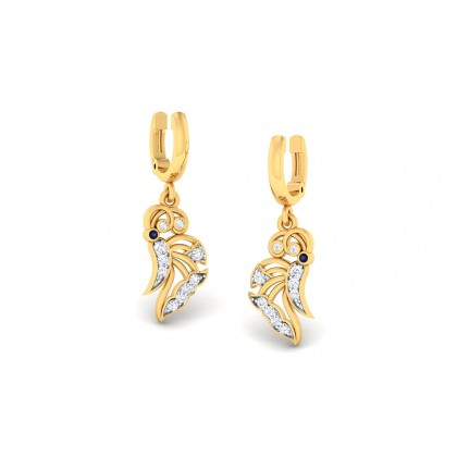 BLAIRE DIAMOND DROPS EARRINGS in 18K Gold