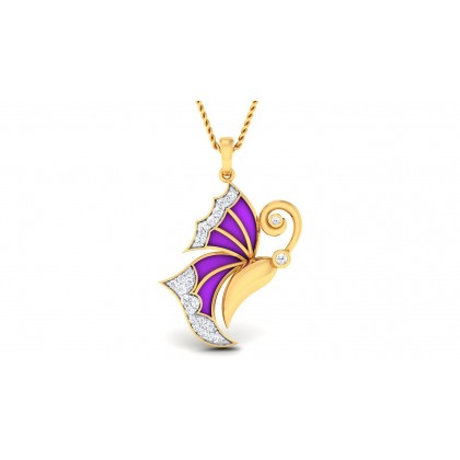VEDA DIAMOND FASHION PENDANT in 18K Gold