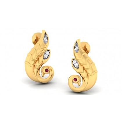 CIANA DIAMOND STUDS EARRINGS in 18K Gold