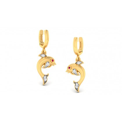 PARINA DIAMOND DROPS EARRINGS in 18K Gold